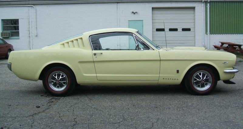 Springtime Yellow 1965 Ford Mustang Fastback