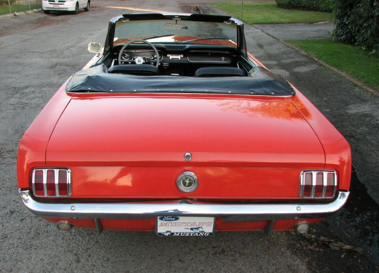 Poppy Red 1965 Mustang Convertible