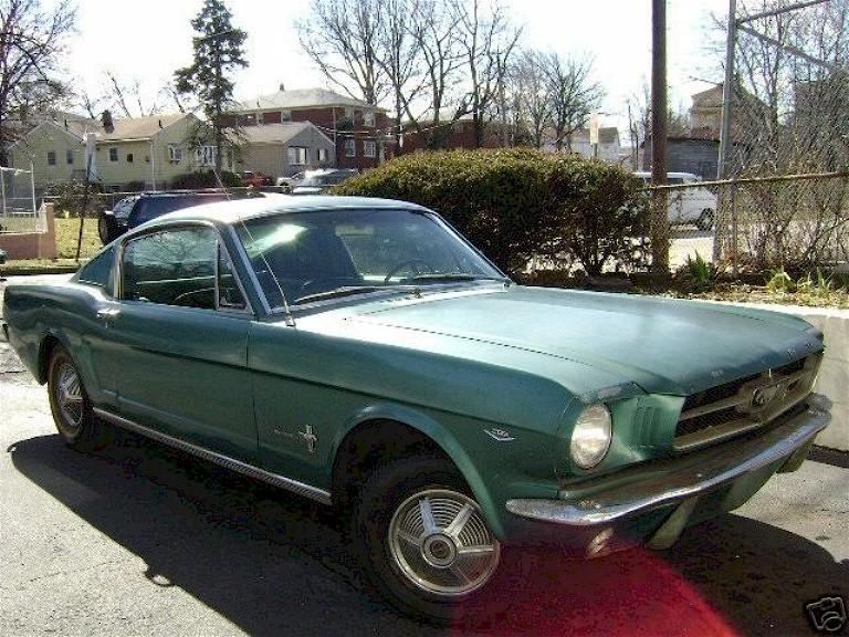 Twilight Turquoise 1965 Mustang Fastback