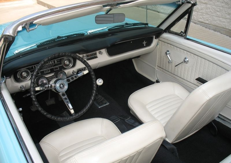 tropical turquoise 1965 ford mustang convertible photo detail