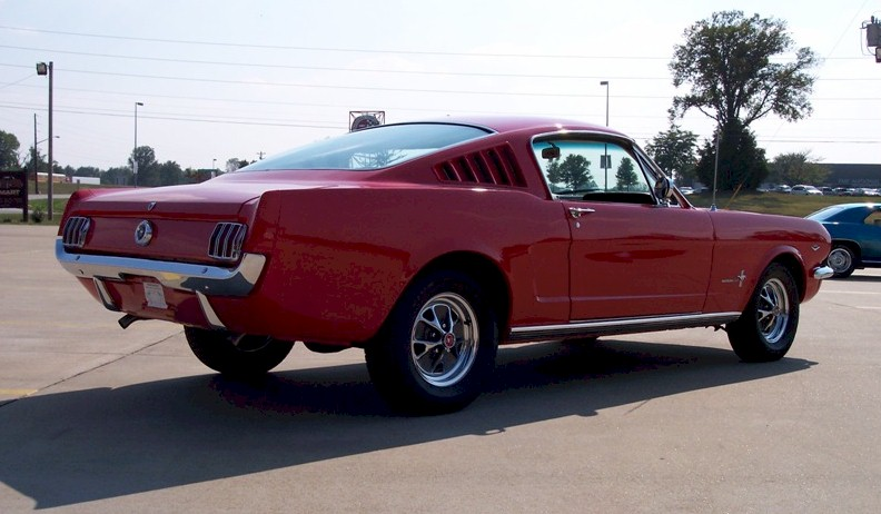 Rangoon Red 1965 Ford Mustang Fastback Mustangattitude