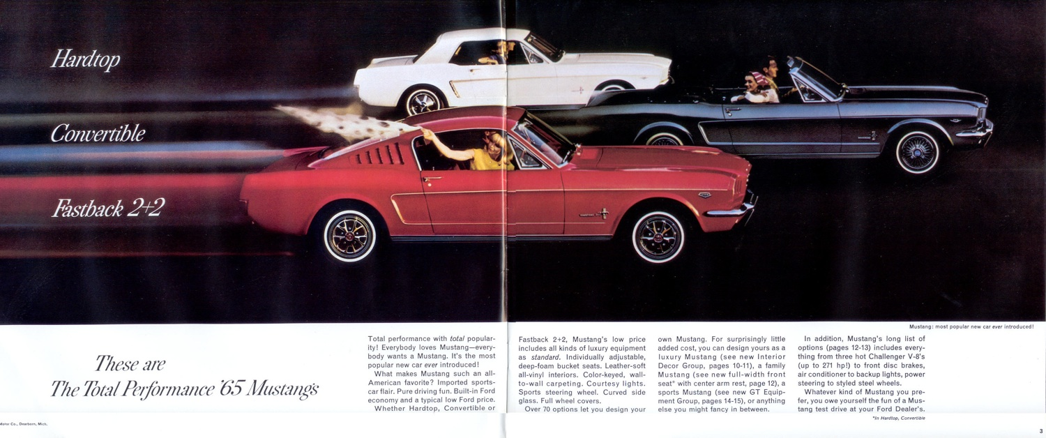 Page 2-3: Hardtop / Convertible / Fastback 2+2 introduction
