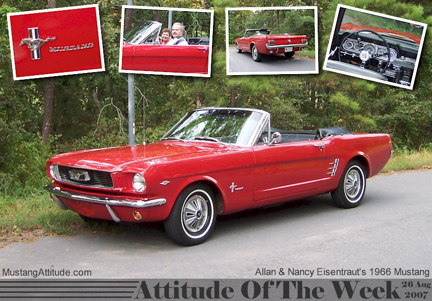 Red 1966 Mustang Convertible