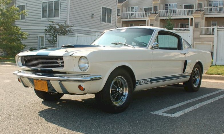 White 1966 Shelby GT-350