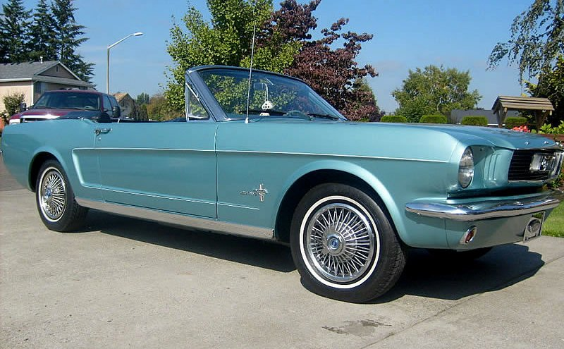 Tahoe Turquoise 1966 Mustang convertible