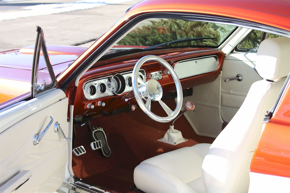 Orange and white 1966 ford mustang fastback mustangattitude orange and white custom interior sciox Choice Image