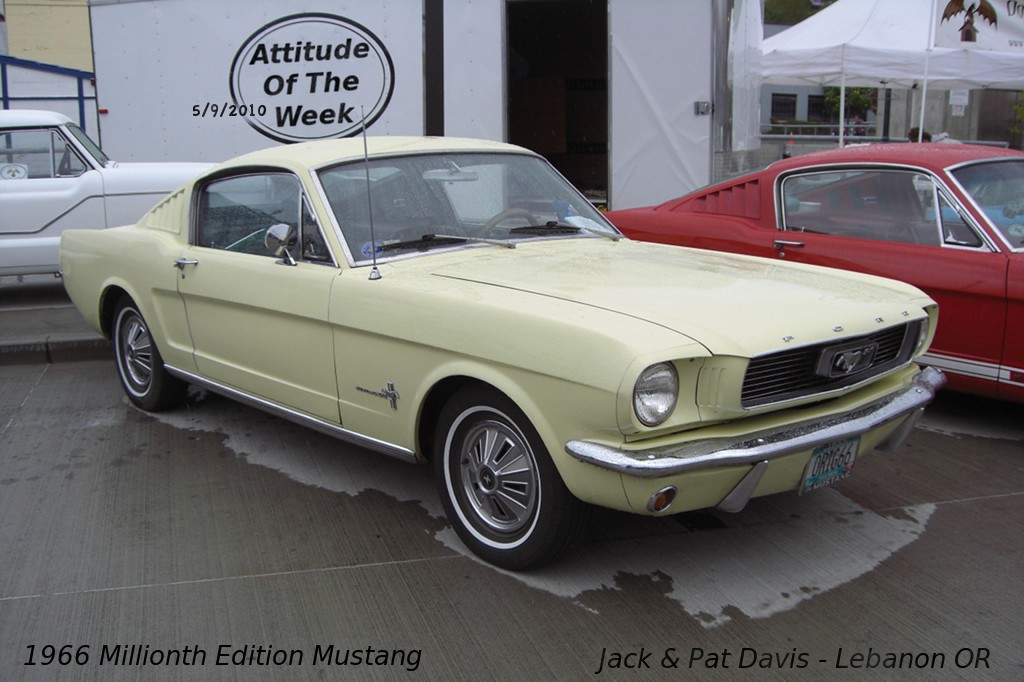 Springtime Yellow 1966 Millionth Edition Mustang Fastback