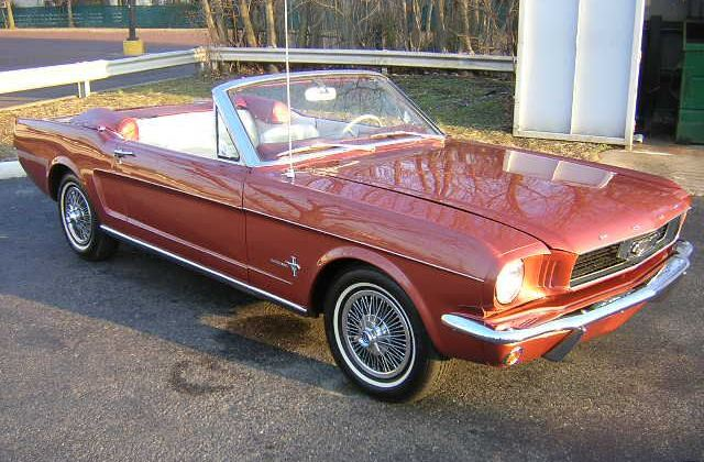 Emberglo Orange 1966 Ford Mustang Sprint Convertible ...