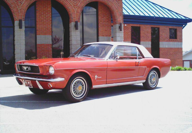 Emberglo Orange 1966 Mustang Sprint 200 Hardtop