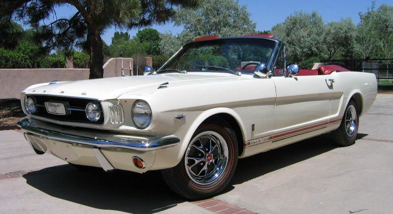 Wimbledon White 1966 Ford Mustang Gt Convertible
