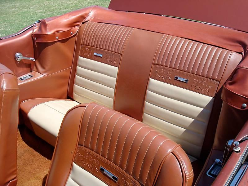 Emberglo and Parchment Pony Interior 1966 Mustang GT Convertible