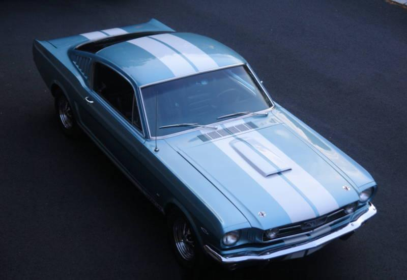 Tahoe Turquoise 66 Mustang GT Fastback
