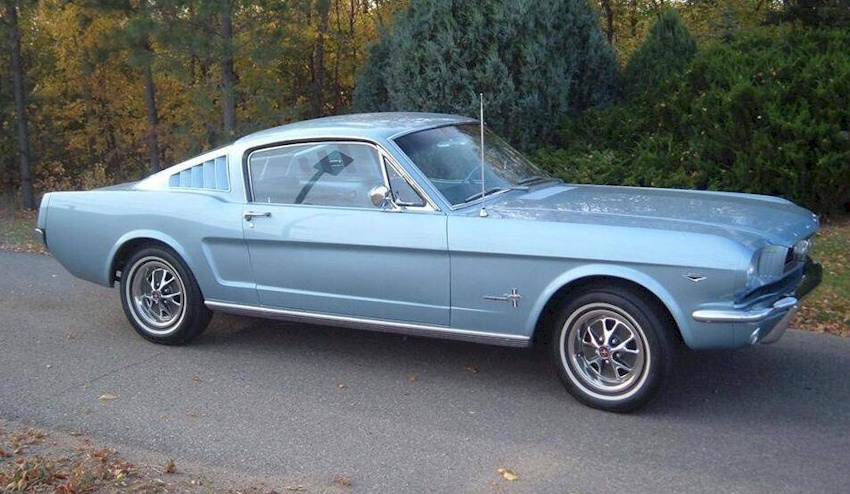 Silver Blue 1966 Ford Mustang T 5 Fastback