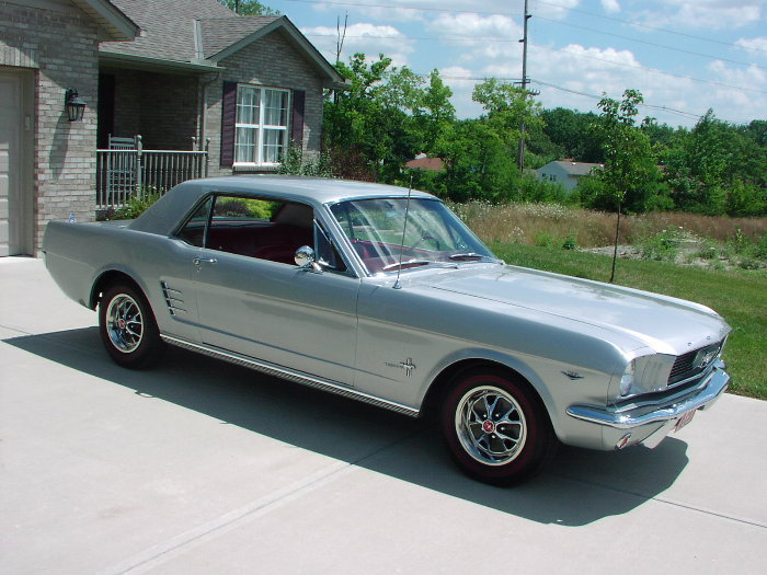 Silver Frost 1966 Ford Mustang Hardtop Mustangattitude
