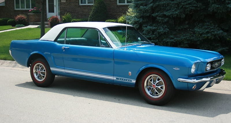 Sapphire Blue 1966 Ford Mustang Gt Hardtop