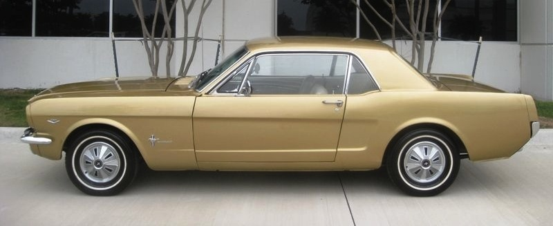 Gold 1966 Millionth Anniversary Mustang hardtop