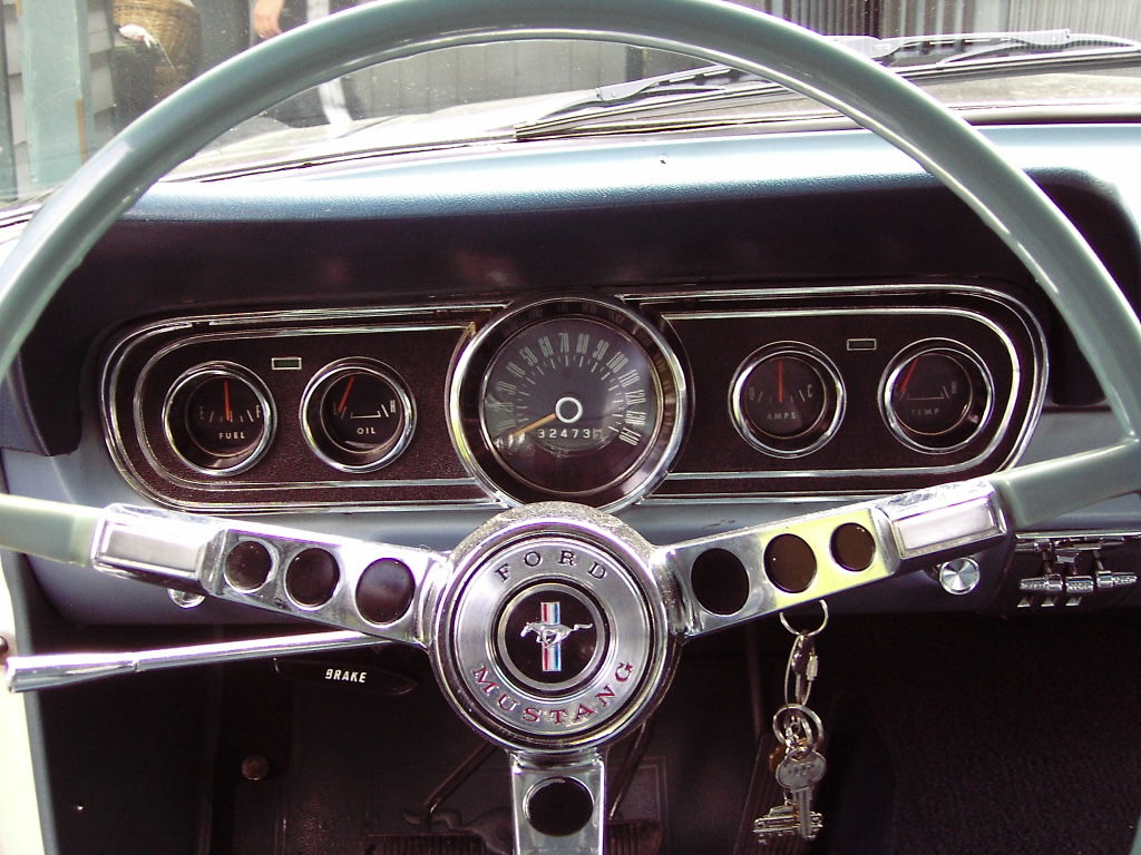 1966 Player's Mustang interior