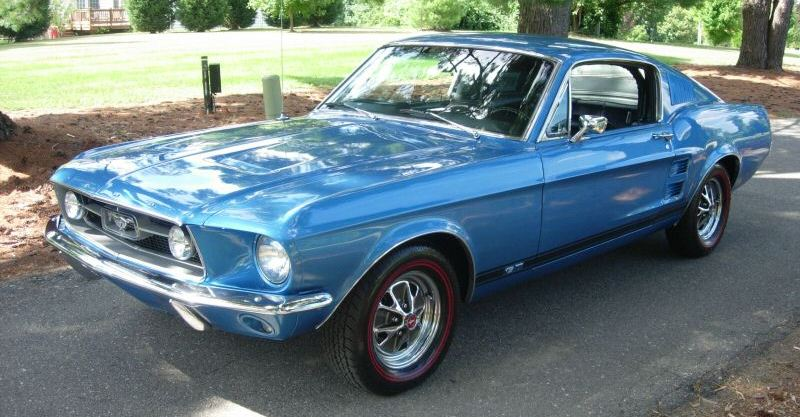 Acapulco Blue 1967 Mustang