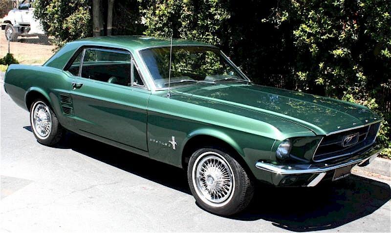 Image Gallery Green 1967 Mustang