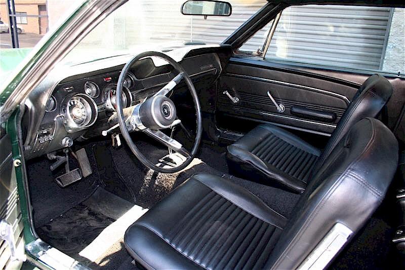 1967 mustang interior view