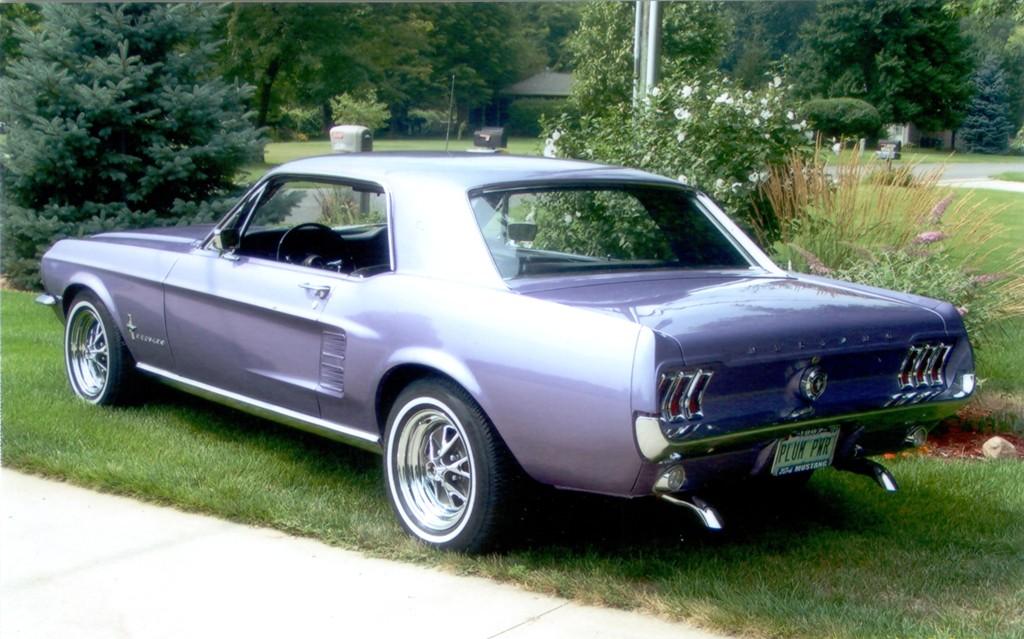 Purple 1967 Ford Mustang Hardtop Mustangattitude Com