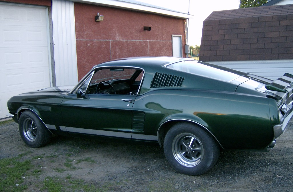 Dark Moss Green 1967 Ford Mustang Fastback ...