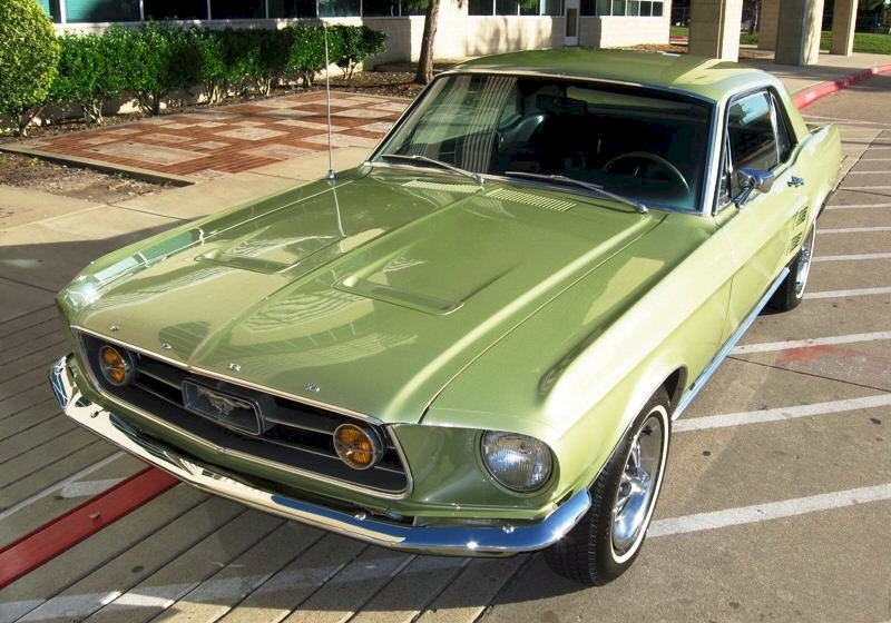 alime gold 1967 mustang gta coupe right front view lime gold is more of a green than a gold in color - 1967 Ford Mustang Coupe Green
