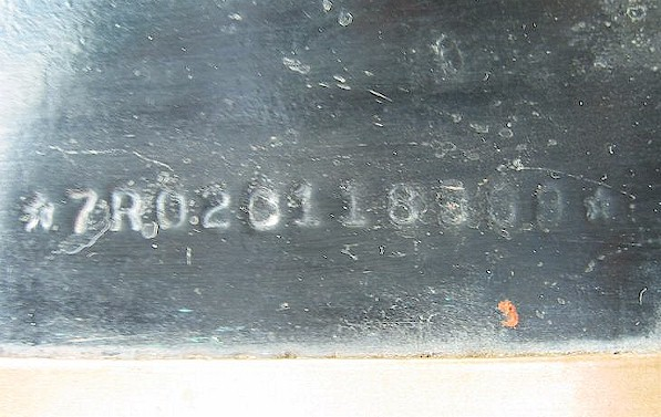 VIN number on fender