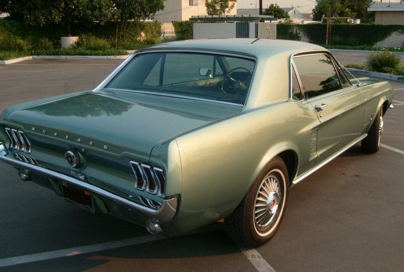 Lime Gold Green 1967 Ford Mustang Hardtop