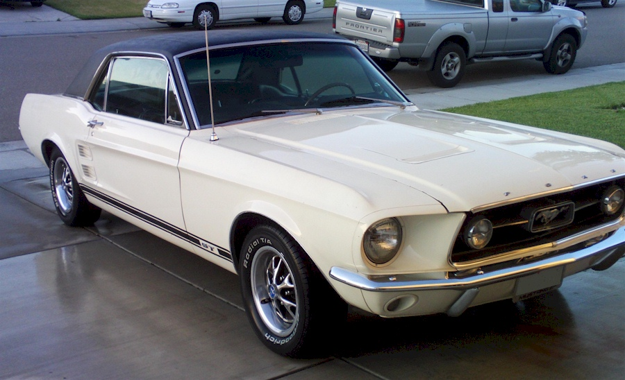 Wimbledon White 1967 Ford Mustang Gt Hardtop