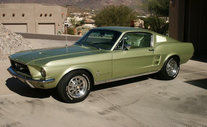 Lime Gold Green 1967 Ford Mustang Fastback ...