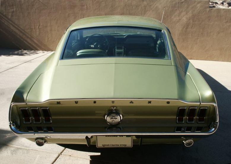lime gold 1967 mustang fastback - 1967 Ford Mustang Fastback Green