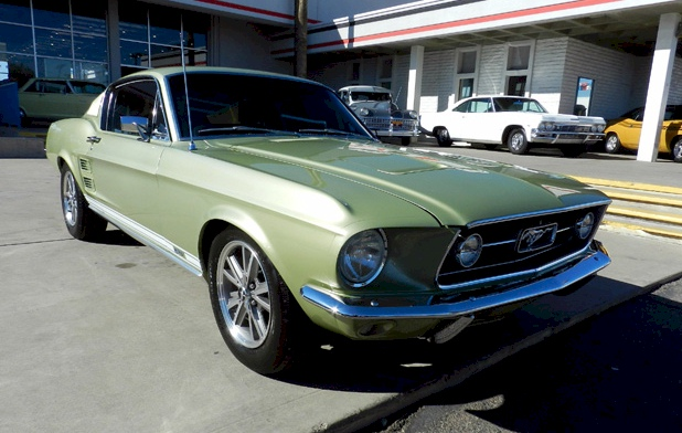 Lime Gold 1967 Mustang