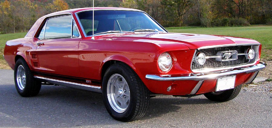 Candy Apple Red 1967 Ford Mustang Gt Hardtop