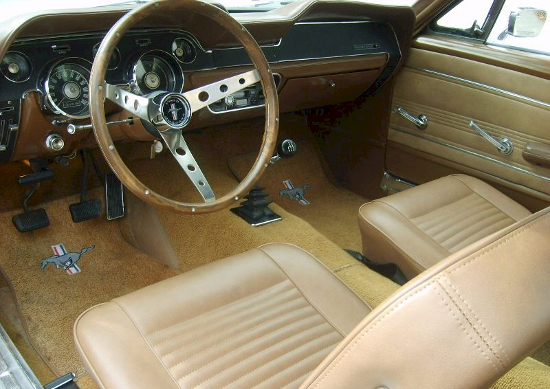 Wimbledon white 1967 ford mustang fastback photo detail for 1967 mustang interior pictures