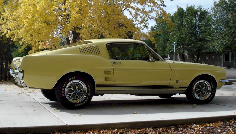 Aspen Gold 1967 Ford Mustang Gt High Country Special
