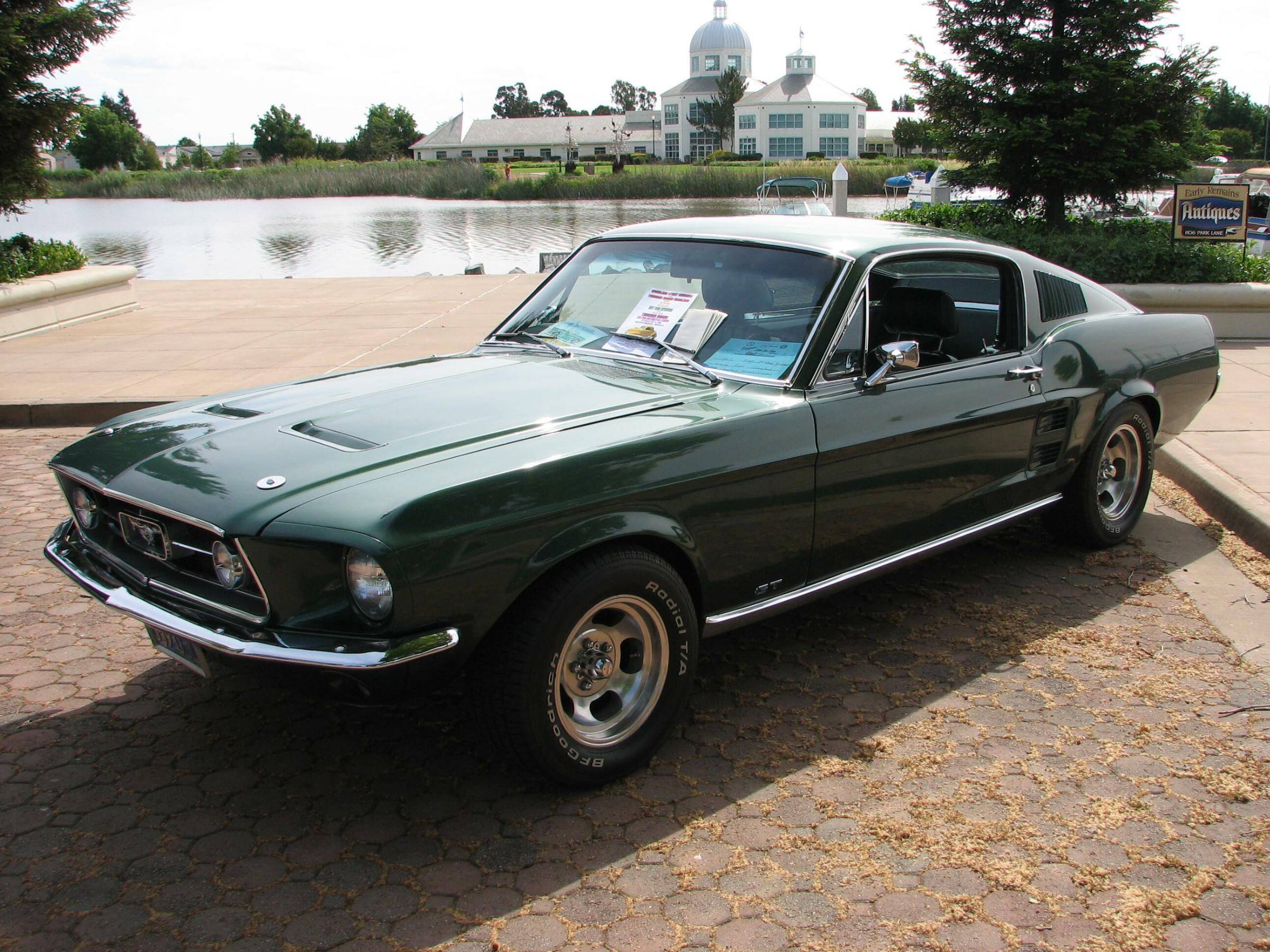 Dark Moss Green 1967 Ford Mustang GT Fastback ...