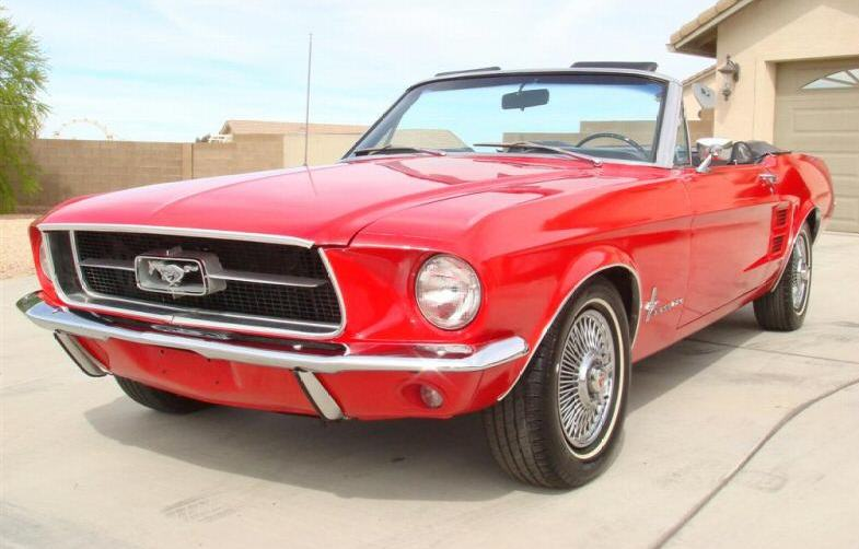 Candy Apple Red 1967 Ford Mustang Convertible