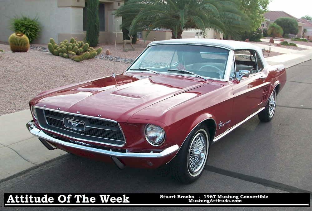 1967 Mustang Convertible For Sale Red