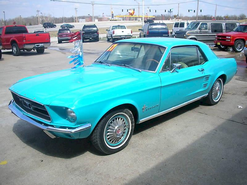 Frost Turquoise 1967 Mustang Hardtop