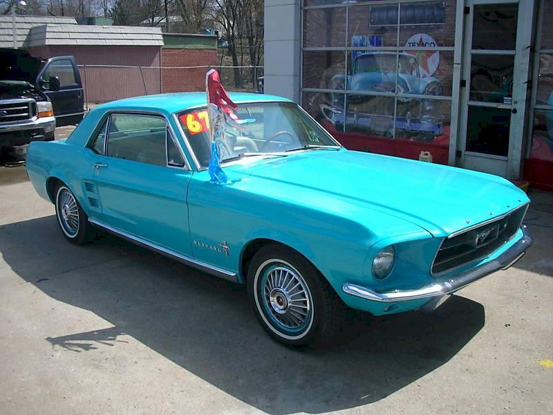 Frost Turquoise 67 Mustang Hardtop