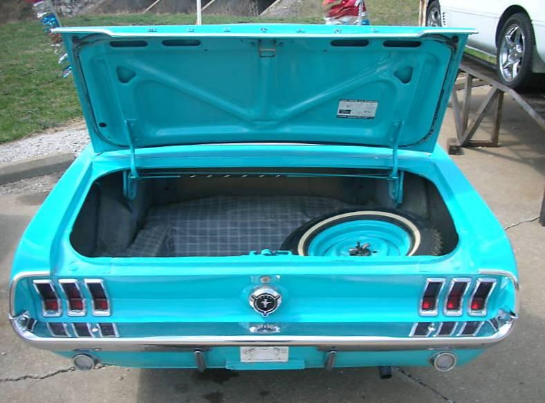 Frost Turquoise Blue 1967 Ford Mustang Hardtop