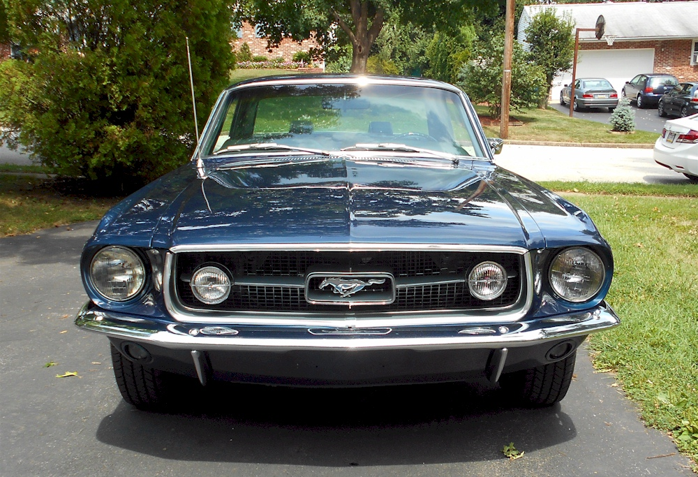 Nightmist Blue 1967 Mustang GT