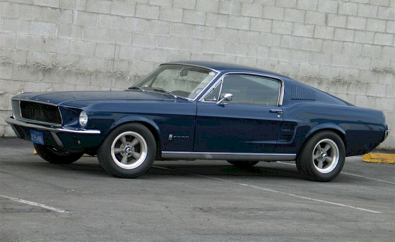 Blue 1967 T-5 Mustang Fastback
