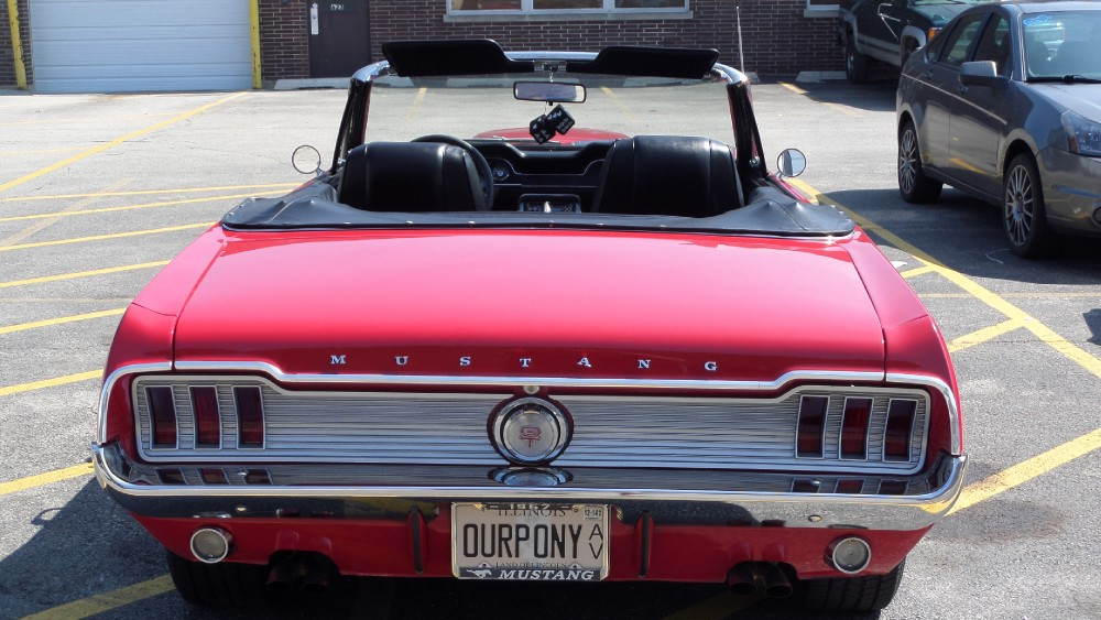 Candy Apple Red 1967 Ford Mustang Gt Convertible