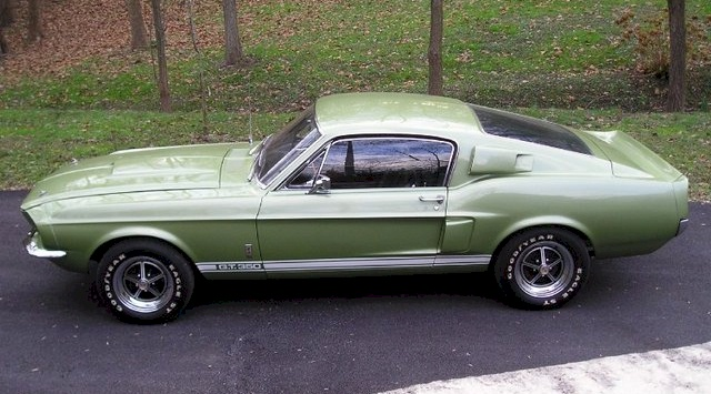 lime gold 1967 shelby gt 350 - 1967 Ford Mustang Fastback Green