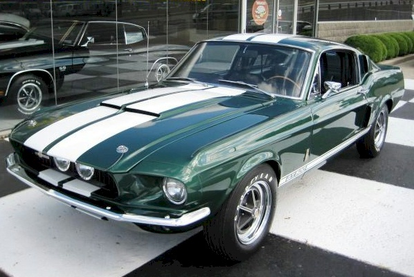 Dark Moss Green 1967 Ford Mustang Shelby GT-500 Fastback ...