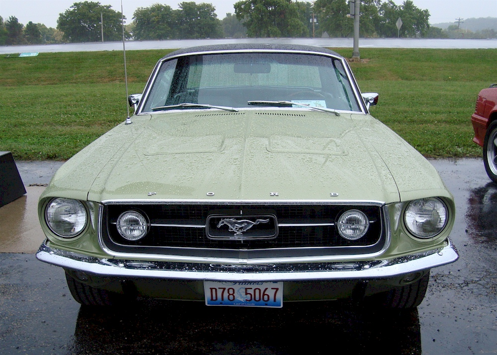 Lime Gold 1967 Mustang GT