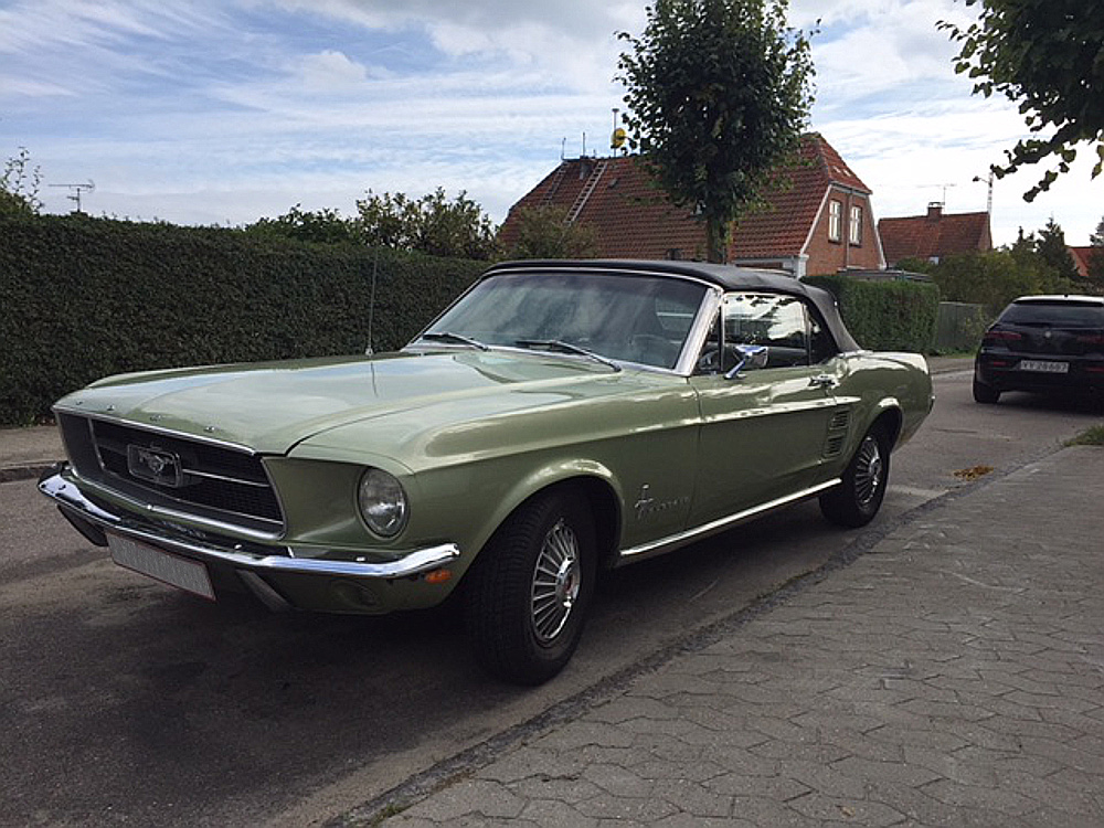 1967 Lime Gold Mustang