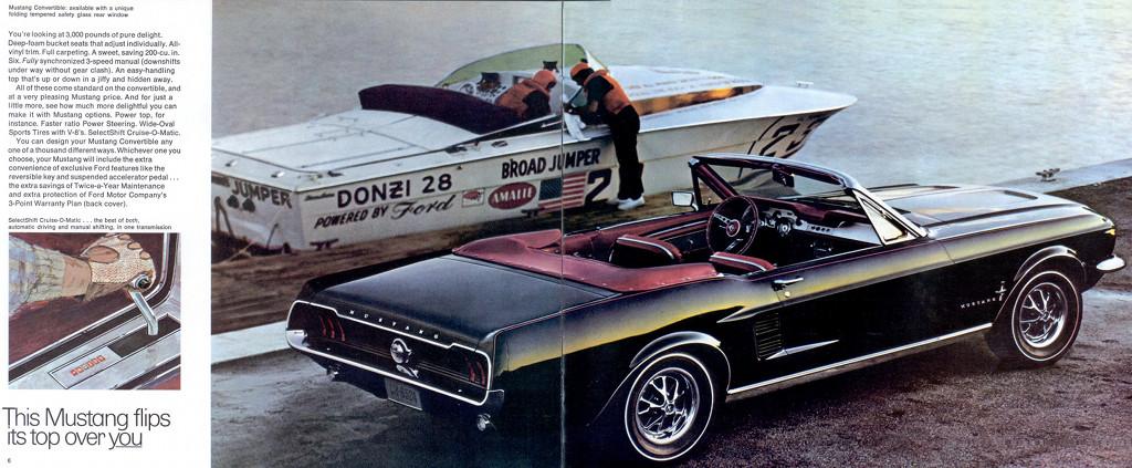 1967 ford mustang promotional brochure
